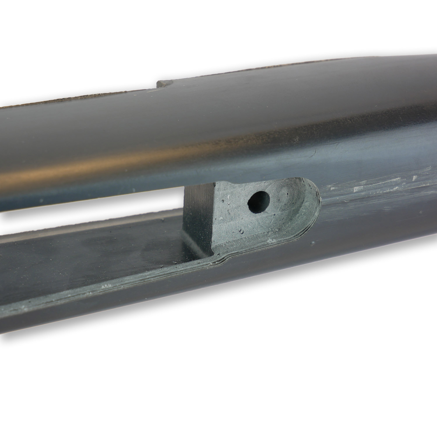 Bansner Classic, composite stocks, bottom view, inlet detail